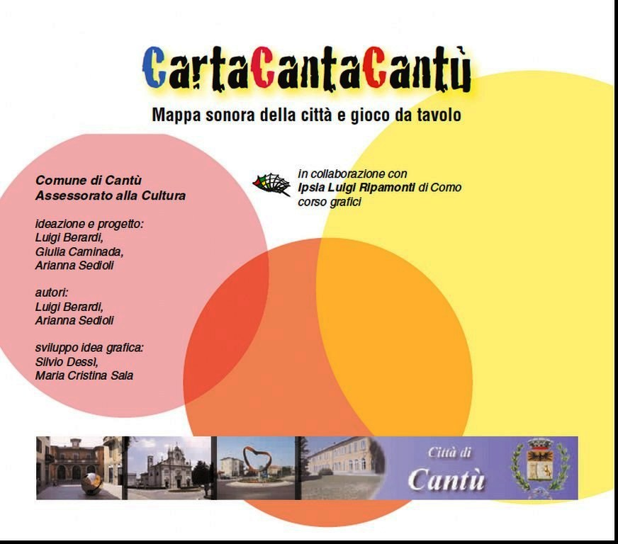 Giulia Caminada, CartaCantaCantù, Mappa sonora, Città di Cantù
